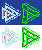 Set of vector icons of abstract triangle — Stock Vector