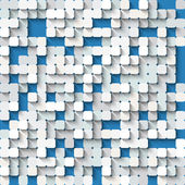 Abstract white and  blue background with mosaic. — Stock Vector
