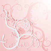 Elegant lace card or invitation. — Vector de stock