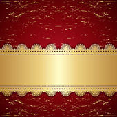 Vintage gold with a red background. — Stock Vector
