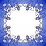 Blue floral frame — Stock Vector
