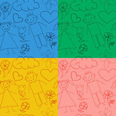 Set of seamless baby patterns. — Vector de stock