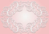Stylish invitation or greeting card. Elegant lace frame. — Cтоковый вектор