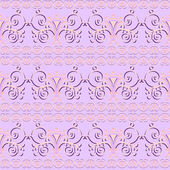 Pink floral seamless pattern ornament background print design — Stock Vector