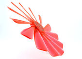Fragment of red bended propeller — Stock Photo