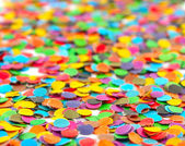 Multi colour circles from paper for decoration — Stock Photo