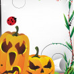 Cute pumpkin monsters — Stock Vector #12428230