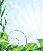Opulent vegetation — Stock Vector