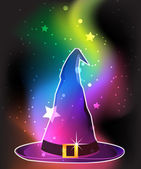 Transparent witch hat — Stock Vector