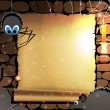 Royalty-Free Stock Vector: Old parchment in a dark dungeon