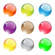 Transparent colored beads — Stock Vector