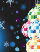 Original Christmas balls — Stock Vector