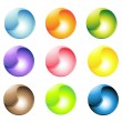 Multi-colored buttons — Stock Vector