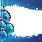 Blue Christmas balls — Stock Vector