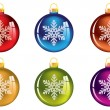Set of transparent Christmas tree decorations — Stock Vector