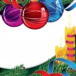 Colorful Christmas decorations — Vector de stock #14974009