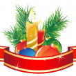 Christmas bouquet — Vector de stock #14974457