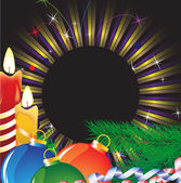 クリスマス キャンドルと明るい見掛け倒し — ストックベクタ