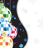 Glittering tree decorations — Stock Vector