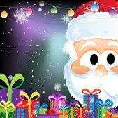 Babbo Natale e scatole regalo — Vettoriale Stock
