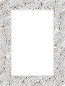 Snow covered fir tree branches — Vector de stock