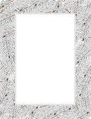 雪の fir 木の枝 — ストックベクタ