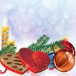 Romantic Christmas sparkling background — 图库矢量图片 #15555281