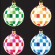 Christmas tree balls set — Stock Vector