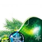 Sprigs of fir and Christmas balls — Stock Vector #15556775