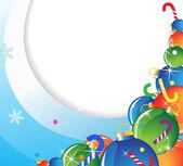 Noel süslemeleri yığını — Stok Vektör
