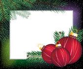 Christmas festive frame — Stock Vector
