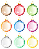 Christmas tree balls set. — Stock Vector
