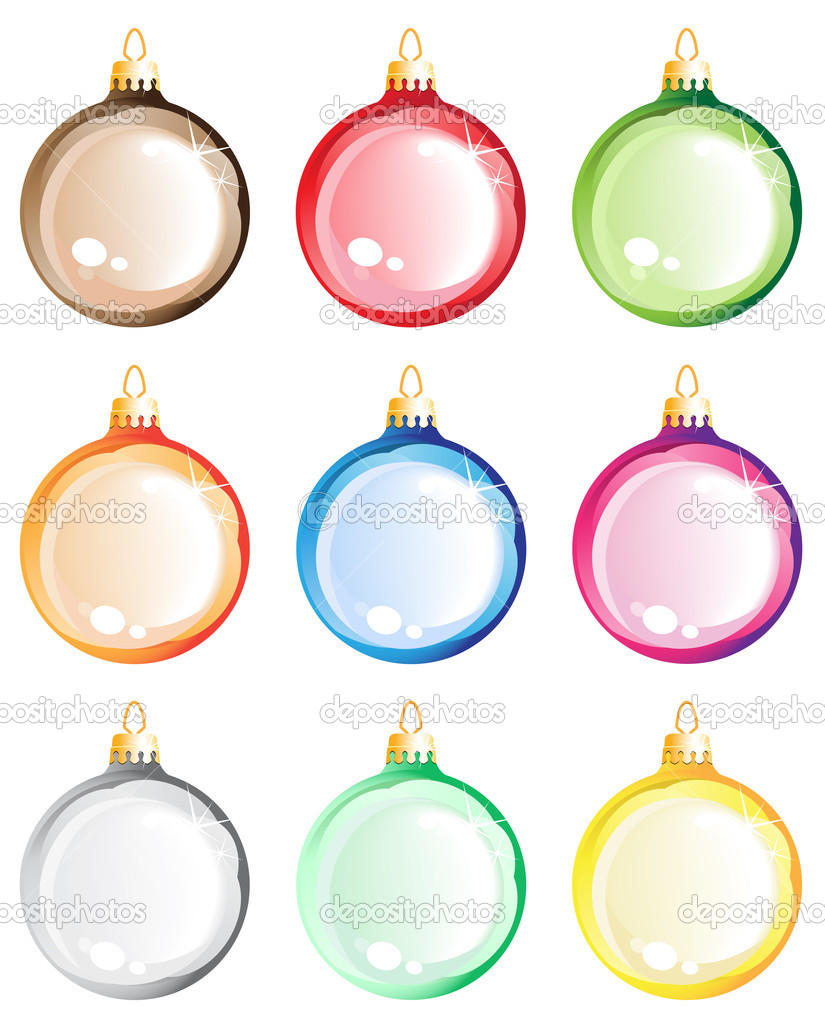 Christmas decorations on white background  — Stock Vector #15556427