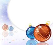 Dekoracje musujące niebieski i pomarańczowy — Wektor stockowy