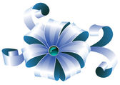 Ruban bleu — Vecteur