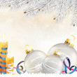 Christmas decorations background — Vector de stock #16632209