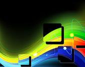 Neon waves — Stock Vector