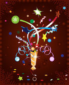 Christmas cracker — Stock Vector