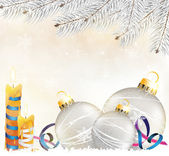 Christmas decorations background — Vector de stock