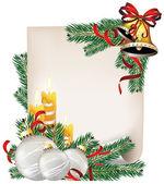 クリスマスのお知らせ — ストックベクタ