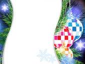 рождественская елка украшения. — Cтоковый вектор
