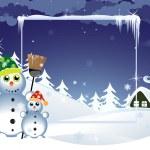 Funny Snowmen — Stock Vector #18010299
