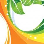 Green foliage. Conceptual image. — Stock Vector