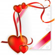 Hearts and ribbons — Imagen vectorial