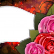 Royalty-Free Stock Immagine Vettoriale: Roses on a red background. Valentines Day card