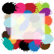 Stock Vector: Blots frame