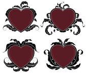 Vintage Valentine hearts — Stock Vector