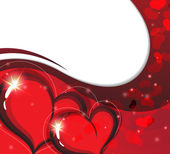 Valentine's Day card with sparkling hearts — Vettoriale Stock