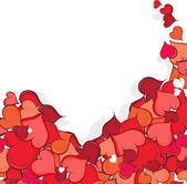 Hand drawn Valentine hearts — Stock Vector