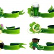 St. Patrick's Day icon set — Stock Vector